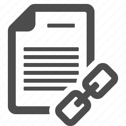 document, file, hyperlink, internet, link, page, weblink icon