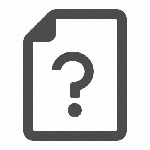document, file, page, question mark icon