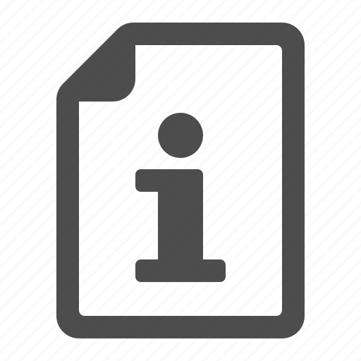 document, file, info, info button, page icon