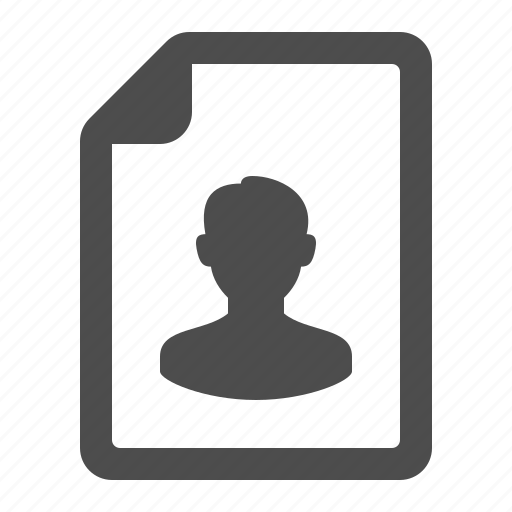 avatar, document, file, page, picture, profile, user icon