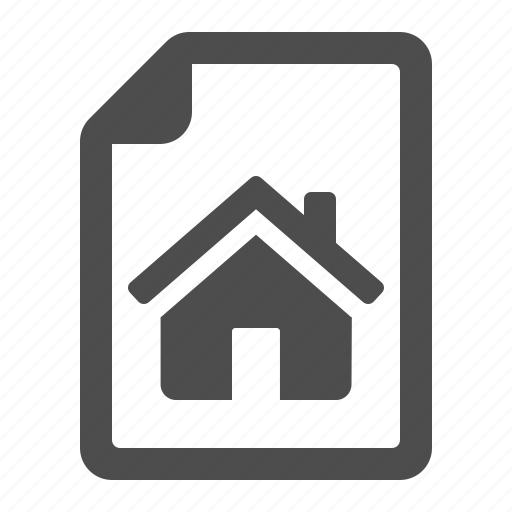contract, document, file, home, house, page, real estate icon