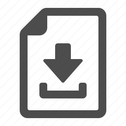 document, download, file, internet, page icon