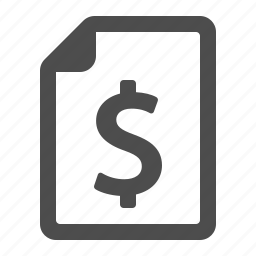 banking, document, dollar, file, finance, money, page icon