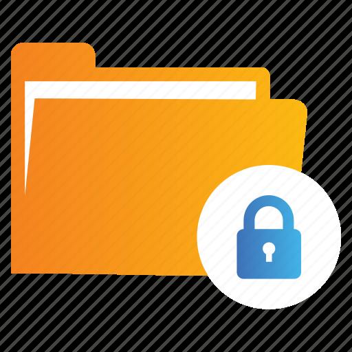 Directory, file, folder, locked icon - Download on Iconfinder