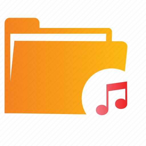 Directory, file, folder, music icon - Download on Iconfinder