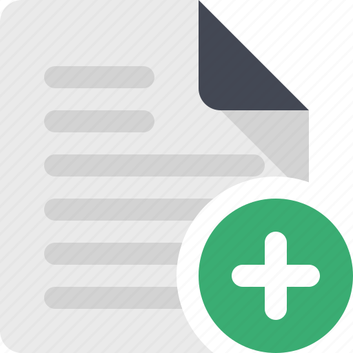 add file, add page, content, document, file, page, paper icon