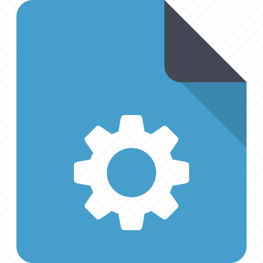 cog, document, file, paper, preferences, settings icon