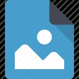 document, file, image, landscape, paper, photo icon