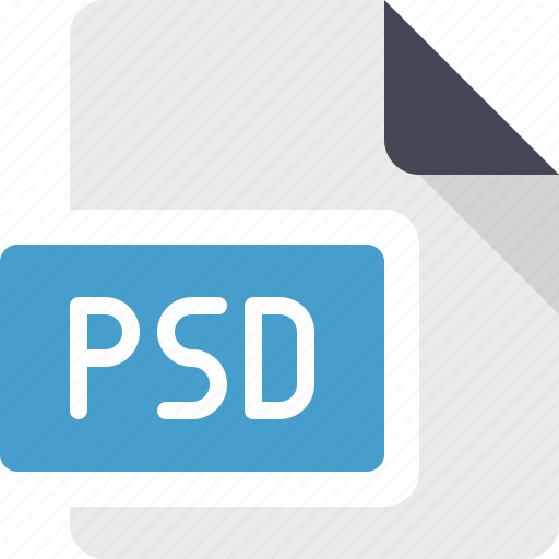 document, file, format, psd, raster icon