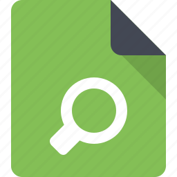 document, file, find, paper, search, search files icon