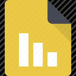 document, file, paper, report, statistics, stats icon
