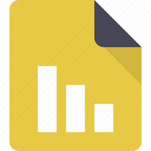 document, file, paper, report, statistics, stats icon
