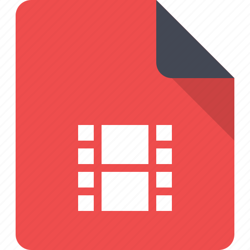 document, file, film, movie, multimedia, video icon