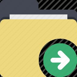 categorized, category, documents, folder, send folder icon