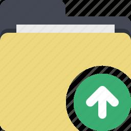 categorized, category, documents, folder, upload, upload file icon