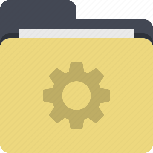 categorized, category, cog, documents, folder, preferences, settings icon
