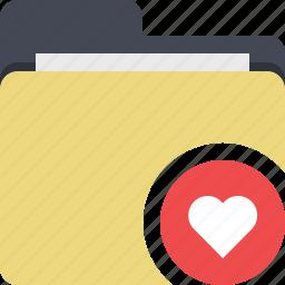 categorized, category, documents, favorite, favorites, folder, heart icon