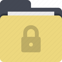 categorized, category, documents, folder, lock, secured, security icon