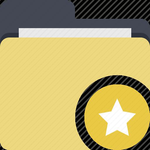 categorized, category, documents, folder, star, starred icon