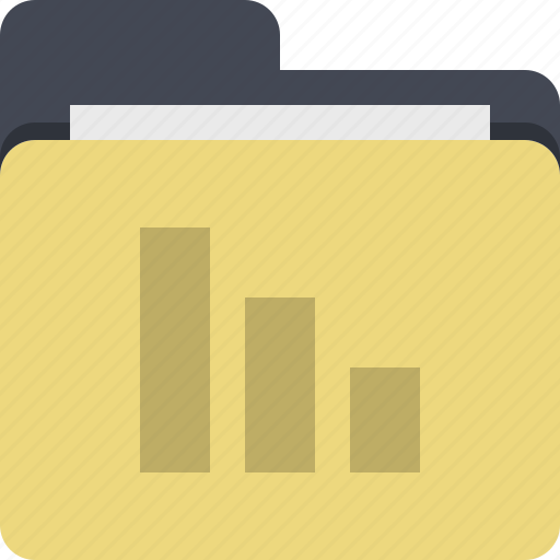 documents, finance, folder, statistics, stats icon