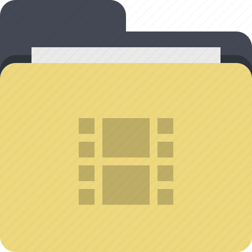 category, documents, film, folder, media, video, video folder icon