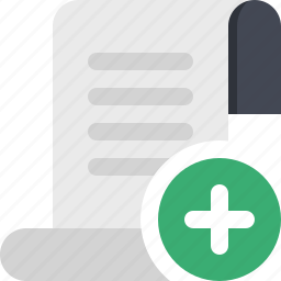add file, content, document, file, page, paper icon