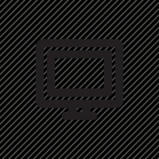 computer, desktop, device icon