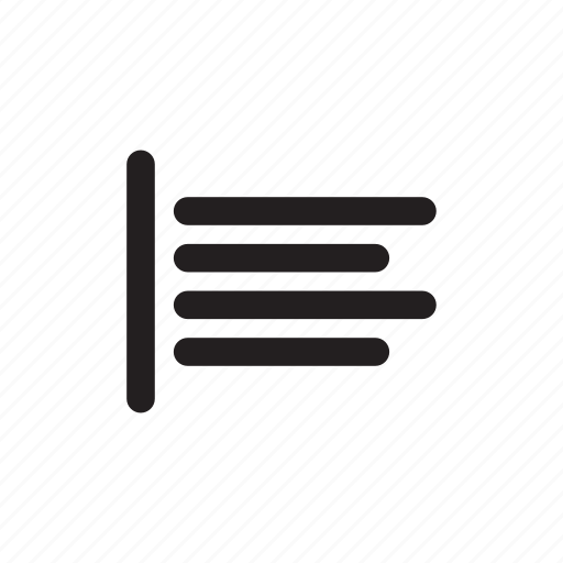 aligned, format, left, text icon