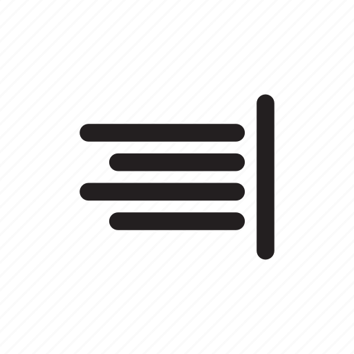 aligned, format, right, text icon