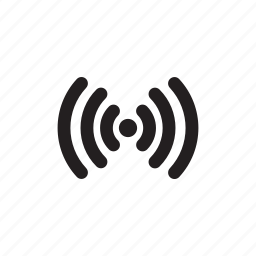 point, signals, wavelength, waves icon
