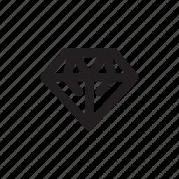 diamond, favourite, format, like, rate, sketch, vectors icon
