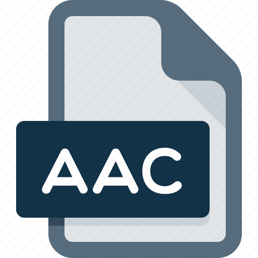 aac, audio, document, extension, file, media, music icon