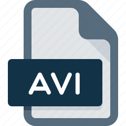 avi, document, extension, file, media, player, video icon