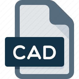 cad, data, document, extension, file icon