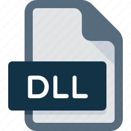 data, dll, document, extension, file, format icon