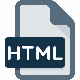 document, extension, file, html, page, type, web icon