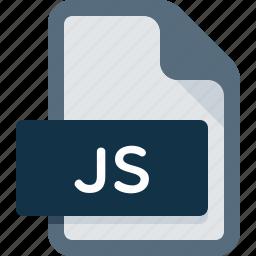 document, extension, file, format, java, js, script icon