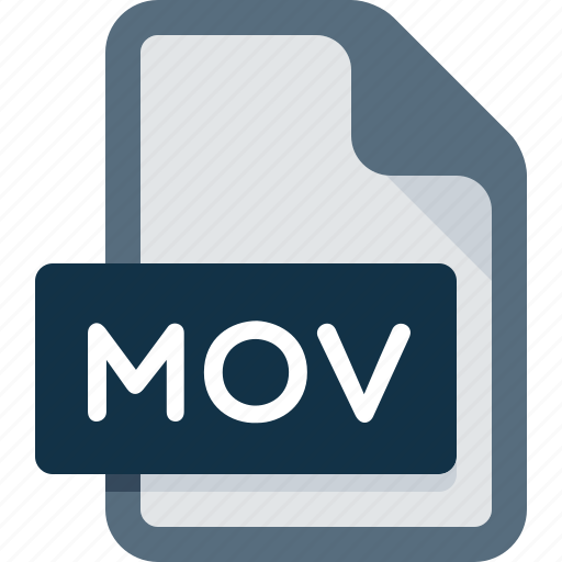 document, extension, file, media, mov, player, video icon