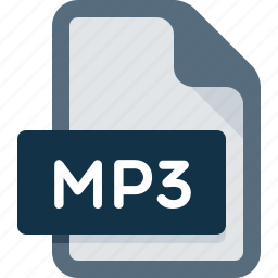 audio, document, extension, file, media, mp3, music icon