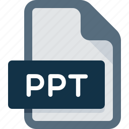 document, extension, file, format, ppt, presentation icon