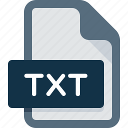 data, document, extension, file, text, txt, type icon