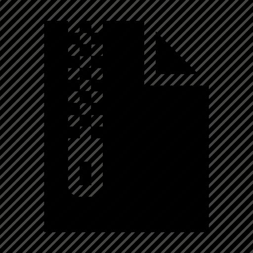 compress, document, file, zip, zipper icon
