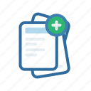 add, document, extenstion, file, format, new, paper icon