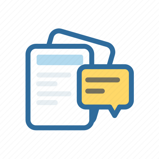 chat, conversation, document, extenstion, file, format, paper icon