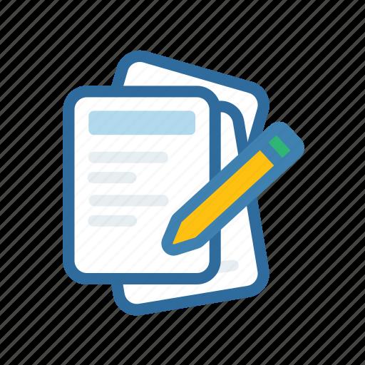 document, extenstion, file, format, paper, pen, pencil icon