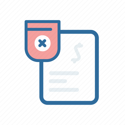 Cancel, document, extenstion, file, format, paper, remove icon - Download on Iconfinder