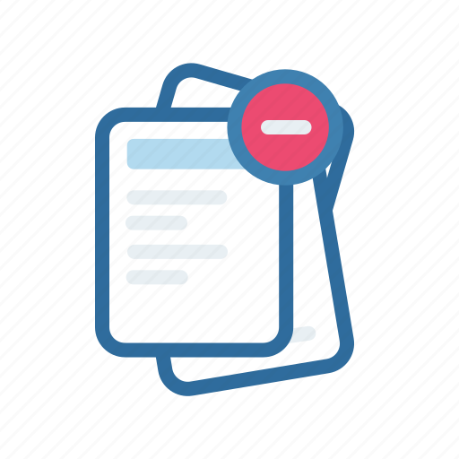 document, end, extenstion, file, format, paper, remove icon