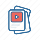 document, extenstion, file, format, media, paper, video icon