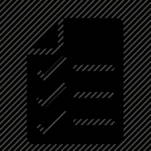 Checklist, document, file icon - Download on Iconfinder