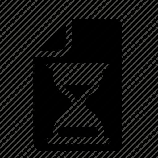 file, hourglass icon